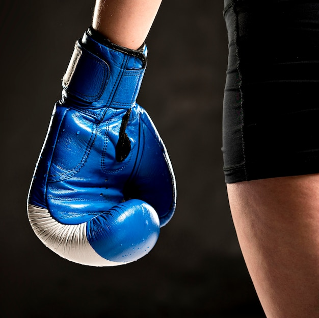 Boxer with protective glove on hand