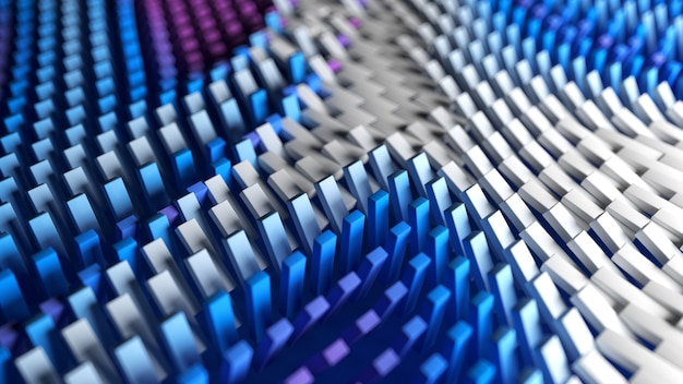 Поверхность коробок с абстрактным рисунком красочных волн