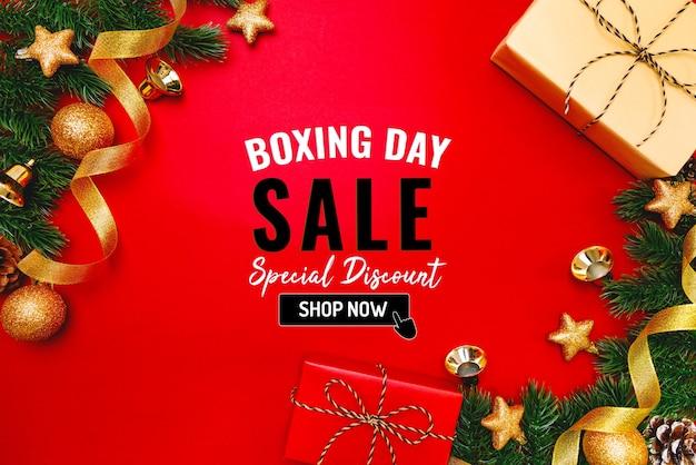 크리스마스 선물 박싱 데가 판매 배너