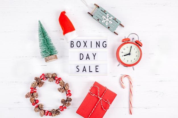 Boxing day sale seasonal promotion