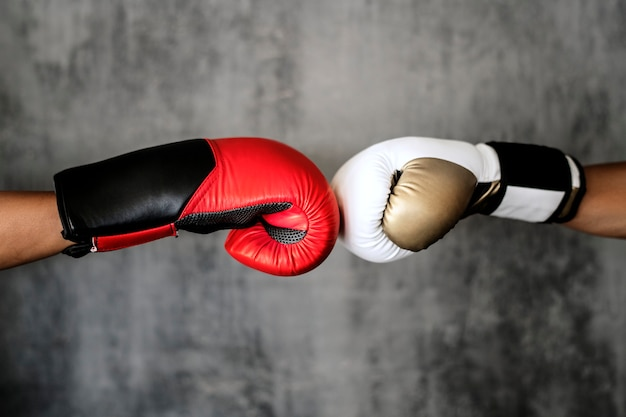 Boxing glove fist bump isolated on the wall