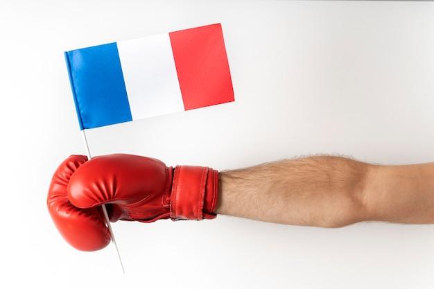 フランス国旗のボクシンググローブ