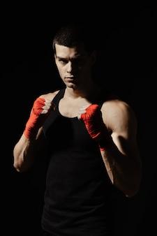 Бокс мужской стоя в стойке