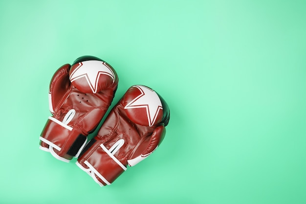 Boxing red gloves