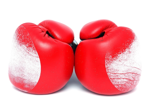 Boxing on white background