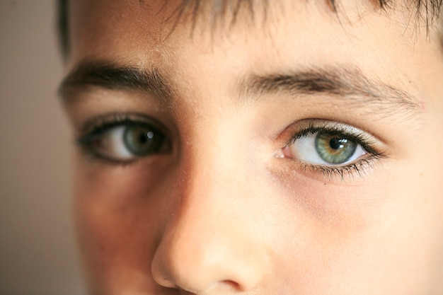 Boy green eyes