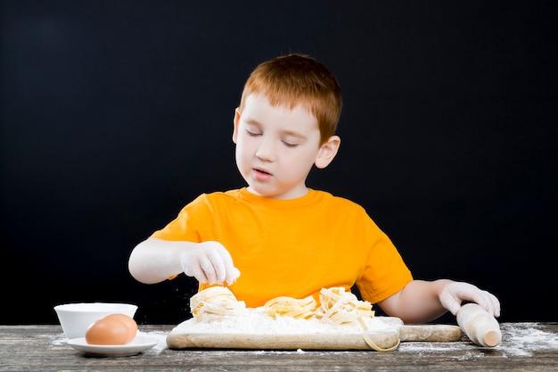 台所の男の子