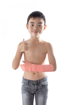 Boy injured in the arm