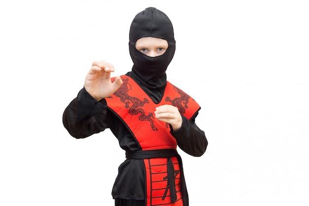 Boy in a ninja suit