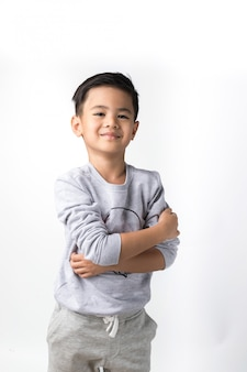 Boy on isolated background