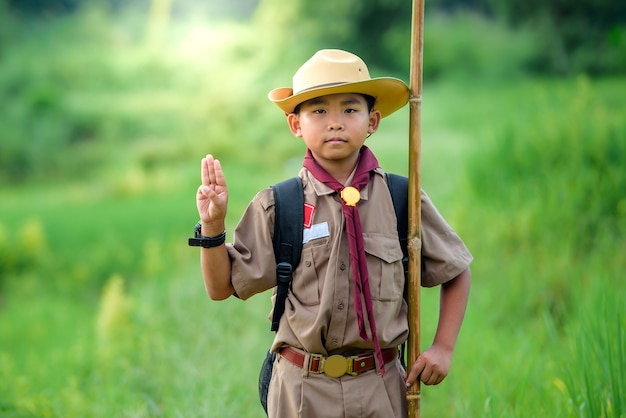 Boy scout students