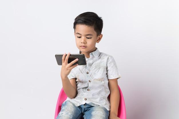 Boy and smartphone