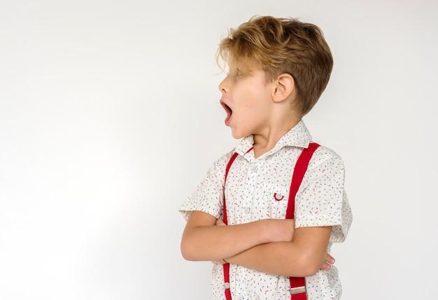 Boy standing protrait studio shoot