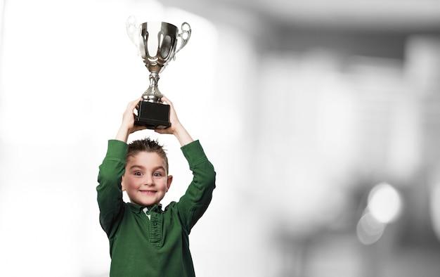 Boy with a trophy