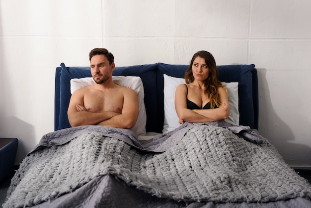 Boyfriend and girlfriend have couple problem and are not happy