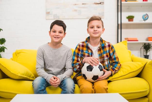 Boys with soccer ball