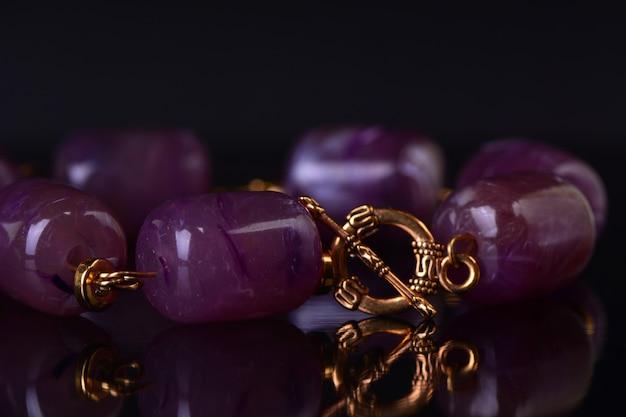 Bracelet with amethyst