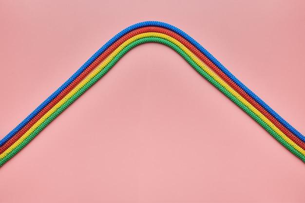 Braided nylon ropes waves shape
