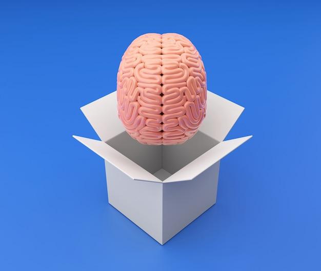 Мозг выходит из белого ящика