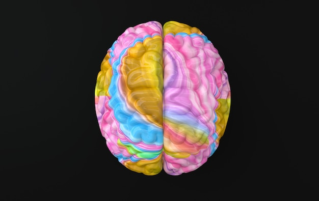 Шаблон иллюстрации рендеринга мозга