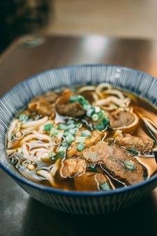 Braised beef noodles in taiwan