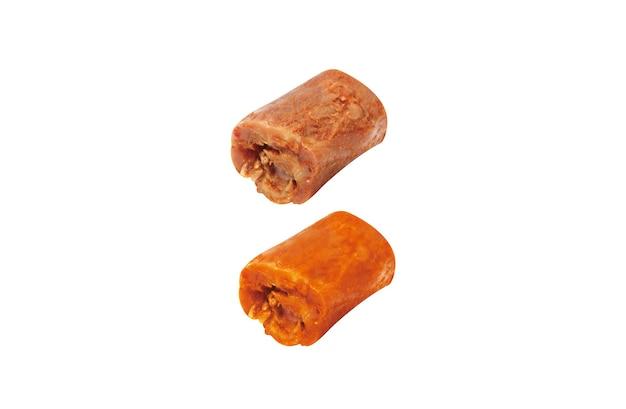 白地にチキンネックとハニーチキンネックの煮込み美味しい中華パンミェン