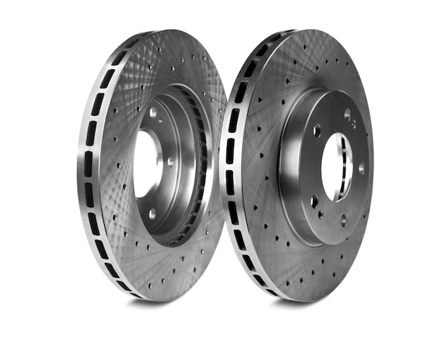Brake disk for the sports car  on the white backround