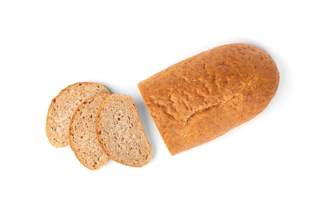 Bran bread isolated.