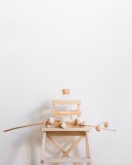 Branch on stool