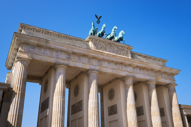 Brandenburg gate (brandenburger tor) in berlin