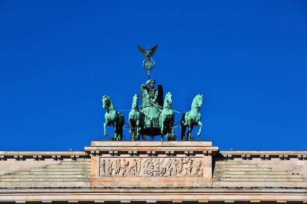Бранденбургские ворота в берлине, германия