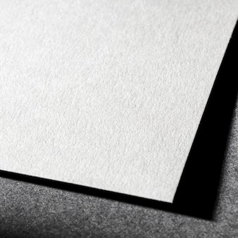 白い織り目加工の紙のブランディング