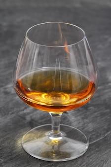 Brandy glass over ardesia