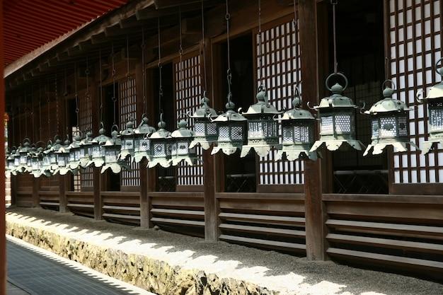 Brass bells on the porch