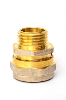 Brass fitting is often used for water and gas installations on white space