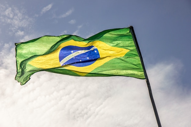 Brazil flag outdoors