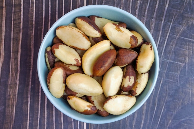 Бразильские орехи бразильский каштан вид сверху
