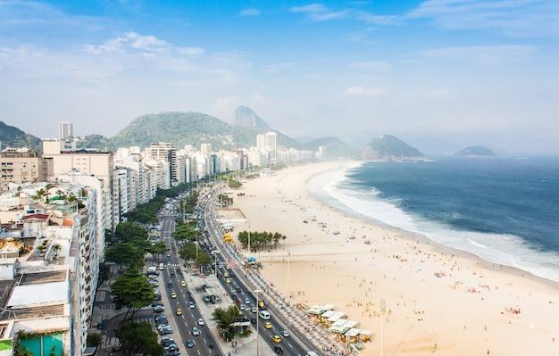 ブラジル、リオデジャネイロ。コパカバーナの有名なビーチ