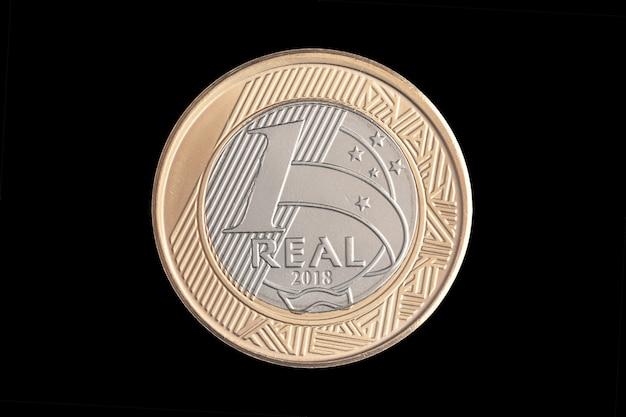 ブラジルの「1リアル」2018コイン Premium写真