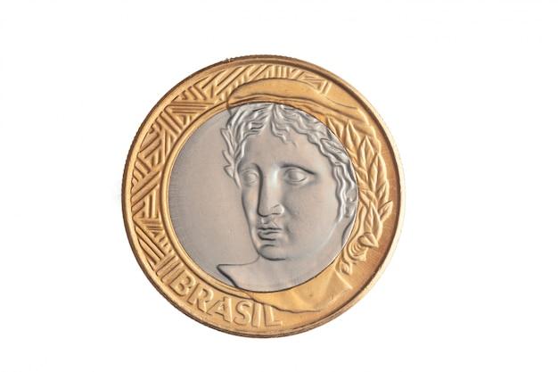ブラジルの「1リアル」コイン Premium写真