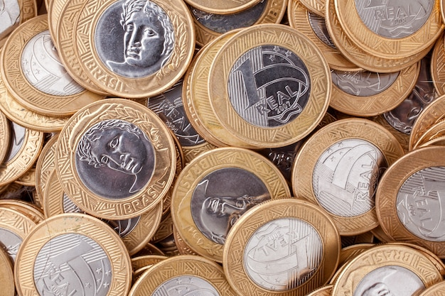 ブラジル1リアルコイン Premium写真