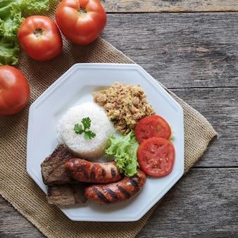 브라질 바베큐 음식 요리.