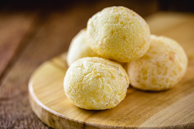 Brazilian cheese bread, typical food from the state of minas gerais