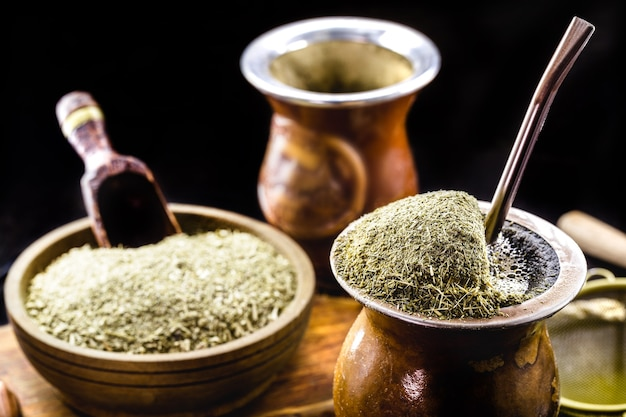 Brazilian chimarrao hot drink yerba mate traditional infusion from south country