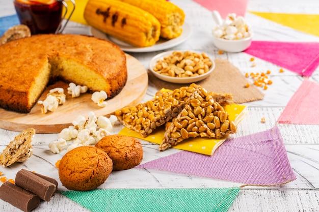 Brazilian festa junina party table