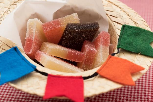 Brazilian festa junina typical jelly sweet