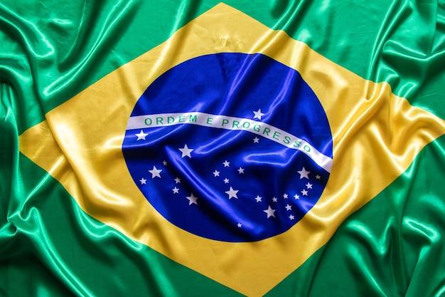 Бразильский флаг с текстурой.