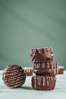 Brazilian home made honey cookies chocolate covered - paes de mel