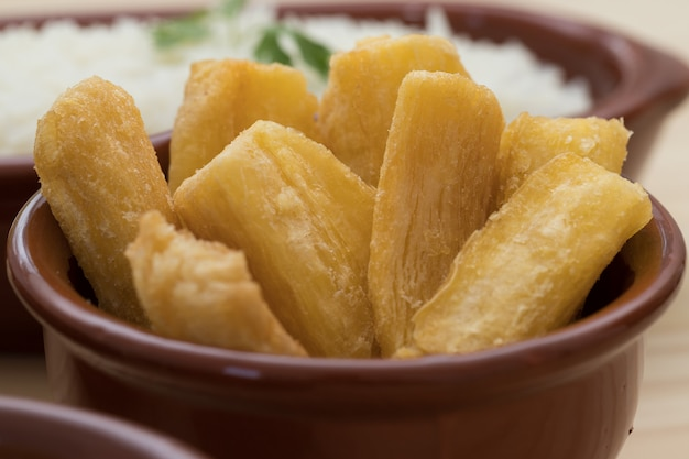 Brazilian mandioca frita
