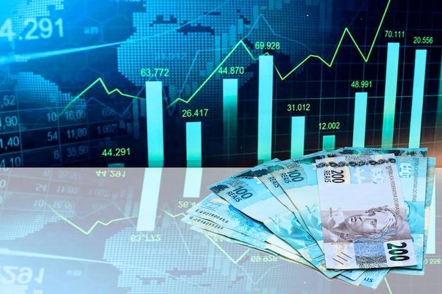 브라질 돈 200 레알 지폐